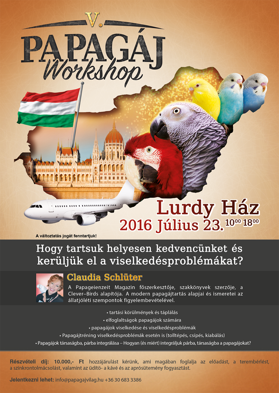 Papagáj Workshop 2016